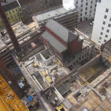 Kessel- und Maschinenhaus im Bau (2)