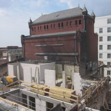 Kesselhaus im Bau